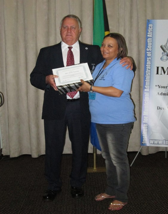 Adv Jurie Vorster being thanked for his presentation by Natasha Paulse