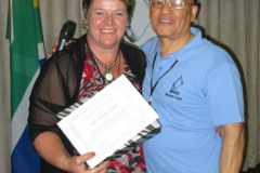 Adv Hanlie Linde pictured with outgoing Western Cape branch Chairperson Nicky Ceasar